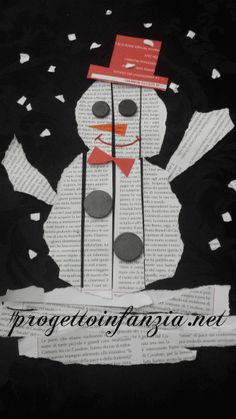 stagioni Archivi - Laboratori nelle scuole Winter Crafts For Kids, Diy Crafts For Kids, Art For Kids, Diy Christmas Ornaments, Christmas Crafts, January Crafts, Egg Carton Crafts, Winter Project, Newspaper Crafts