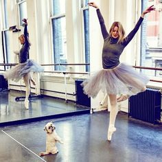Paws & Pointes with @omg__pickles & @laurenclaire88  #Repost @noedewitt123 | Beautiful @laurenclaire88 loves to dance with her dog Pickles. #ABT #DanceStudio #Ballerina #MrsSizzle #DuJourMagazine #NoeDeWitt #SmallDogsRule @abtofficial @mrssizzle @dujourmedia @exposure_ny @abtofficial #abtballet #dogsofabt