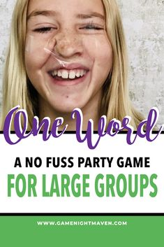 Games One Word is a Silly Group Party Game - Game Night Maven Shower Doors Enhance Showering Article Adult Party Games For Large Groups, Christmas Party Games For Groups, Party Games Group, Funny Party Games, Silly Games, Holiday Party Games, Teen Party Games, Youth Group Games, Family Games