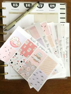Weekly Kit, Coffee First - Erin Condren Vertical Planner, Happy Planner Stickers
