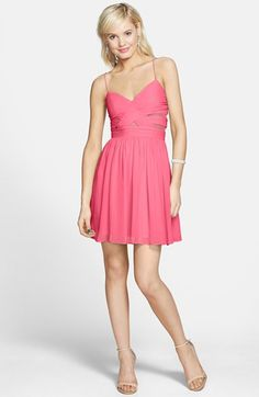 Hailey Logan Cutout Chiffon Dress (Juniors) | Nordstrom