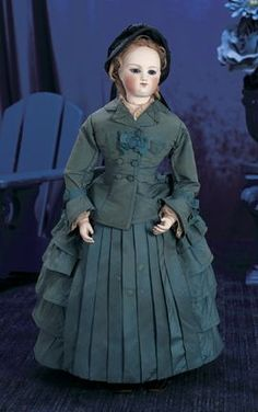 doll clothes 1870 | Doll, 45 cm., by Auguste Dehors. Rare deposed model with lovely pale ...