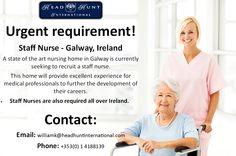 #Galway #Medical #Hiring #Job #Career #Opportunity #Nursing #Staff #Nurse Job Career, Nurse Gifts, Nursing, Opportunity, Health Care, Medical, Medicine, Med School, Health