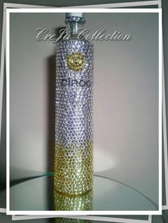 Check out this item in my Etsy shop https://www.etsy.com/listing/262997158/bedazzled-encrusted-ciroc-bling-bottle