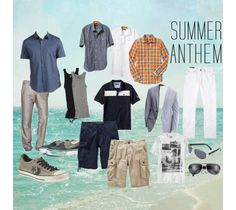 Mens Summer Anthem of Outfits - a quick run down of what my guys are wearing this summer.