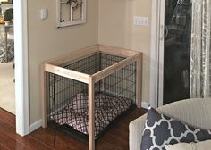 Dog Crate DIY Hack Table Build by SnazzyLittleThing. You are in the right place about shipping cra Dog Crate Table, Diy Dog Crate, Crate Bed, Diy Hanging Shelves, Floating Shelves Diy, Dog Crate Cover, Dog Kennel Cover, Diy Dog Kennel, Dog Hacks