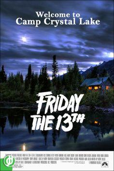 Friday the Horror Movie Poster Fan Art Funny Movies, Scary Movies, Good Movies, Horror Icons, Horror Movie Posters, Friday The 13th Music, Friday The 13th Poster, Sci Fi Horror Movies, Classic Movie Posters