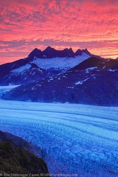 Mendenhall Glacier, Tongass National Forest, near Juneau, Alaska. -  via Ron Niebrugge's photo on Google+