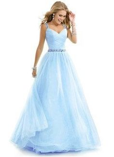 Ball-Gown Sweetheart Floor-Length Tulle Prom Dress With Beading - Alternative Measures