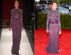 Minka Kelly In Carolina Herrera – 2013 Met Gala