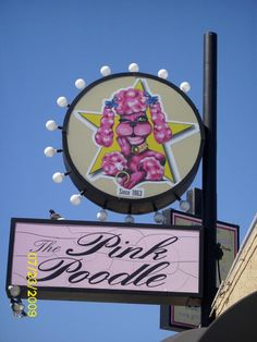 The pink Poodle Strip club San Jose, CA...it's a few blocks away from my favorite thrift shop
