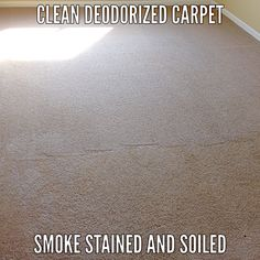 Smoke stained carpet cleaned by Lincoln Steam Carpet Cleaning