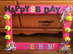 I can use the little plush McD's toy emoji face! Foam board from dollar tree. 10th Birthday Parties, Birthday Party Themes, Girl Birthday, Birthday Emoji, Birthday Ideas, Emoji Theme Party, Emoji Craft, Diy Photo Booth, Holidays And Events