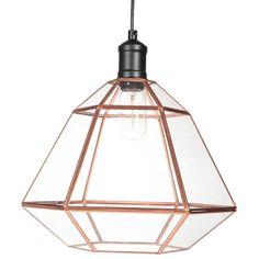 Lámpara de techo de cristal D 36 cm ARTY COPPER