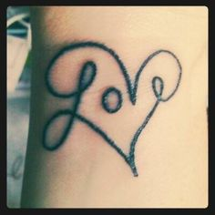 love heart tattoo. don't really like tats but i might get this.