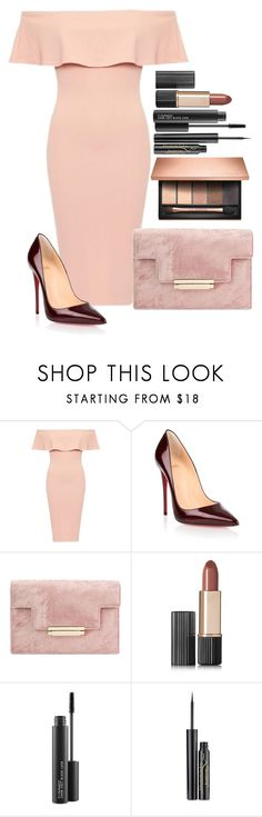 """Untitled #1610"" by fabianarveloc ❤ liked on Polyvore featuring Christian Louboutin, Estée Lauder, MAC Cosmetics, Elizabeth Arden and Clarins"