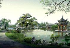 paisaje chino - Buscar con Google