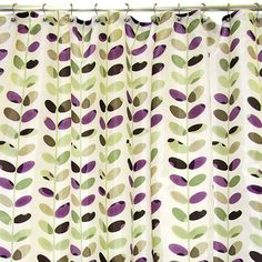 Famous Home Fashions Colorful Vines Fabric Shower Curtain