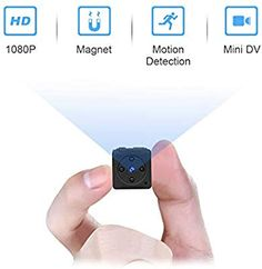 Mini Spy Camera Wireless Hidden, MHDYT Full HD Portable Small Covert Home Nanny Cam with Motion Detection and Night Vision, Indoor/Outdoor Micro Security Surveillance Hidden Camera Mini Spy Camera, Pet Camera, Hidden Spy Camera, Wireless Home Security, Home Security Systems, Security Alarm, Covert Cameras, Spy Gear, Products