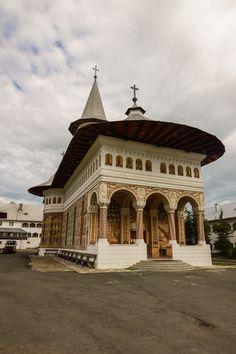 Painted Church of Holy Cross Monastery Oradea Catholic Bishops, Roman Catholic, Romania Travel, Holy Cross, Bucharest, Cathedrals, European Travel, Hungary, Travel Ideas