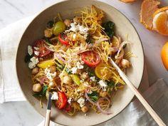 Lunch: Greek Spaghetti Squash Toss