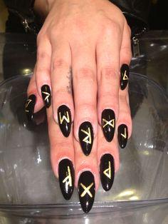 Rune nails Nails by NOMA SF FB.com/nomanails Instagram: @nomanails