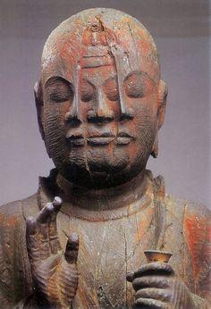 Japanese important cultural property, Hoshi Washo statue, Heian Era (794~1192) 重要文化財 宝誌和尚立像