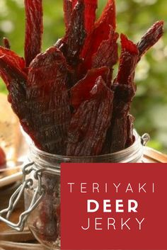 Best Teriyaki Deer Jerky Recipe: I've tried a bunch of different variations but this one is hands down my favorite. All the other recipes I tried were . Venison Deer, Venison Jerky, Deer Meat, Brisket, Deer Recipes, Wild Game Recipes, Deer Jerky Recipe, Jerkey Recipes, Homemade Jerky
