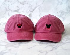 Disney Youth or Adult Embroidered Mouse Ears Hat/Embroidered/ Disney  Baseball Hat