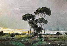 Tramonto alle Franite by Antonio Bonatesta Acrylic ~ 25 cm x 35 cm