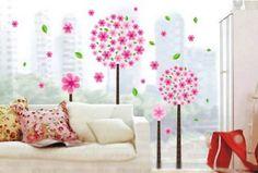 La chambre des enfants rose fleur de pissenlit arbre décalque de mur romantique salon chambre Gr.60x40cm: Amazon.fr: Cuisine & Maison