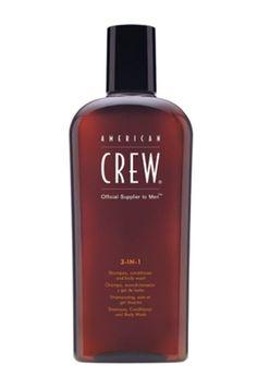 American Crew 3-In-1 Shampoo, Conditioner - Body Wash, 8.45 Oz