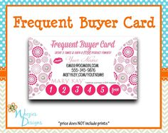 Bright and fun Thirty One or Mary Kay business card design. Single ...