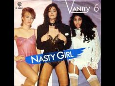 Vanity 6- Nasty Girl. A favorite warmup song at dance practice.