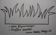 knutselen gras tekening - Google zoeken
