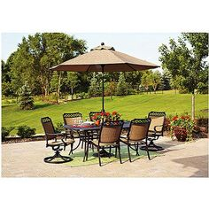 Better Homes and Gardens Paxton Place 9-Foot Outdoor Patio Umbrella