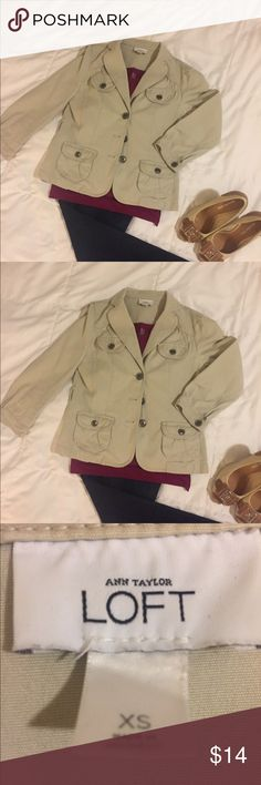 LOFT blazer jacket Great jacket for those cool nights or office!! Can be dressed up or down. Perfect with a tank or cami underneath! Size: XS Only: $10!! LOFT Jackets & Coats Blazers