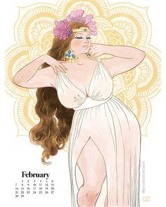 Artista cria calendário com pin ups plus size