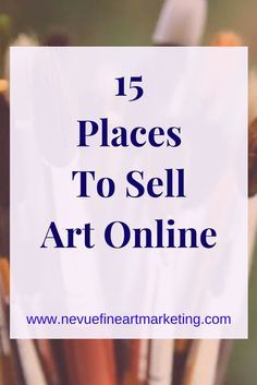 15 Places to Sell Art Online And Make Money - Online Courses - Ideas of Online Courses - Deciding what site an artist should use can feel overwhelming at first. 15 places to sell art online. Popular between artists and photographers. Arte Online, Kunst Online, Online Art, Artwork Online, Venda On-line, Sell My Art, Art En Ligne, Selling Art Online, Things To Sell Online