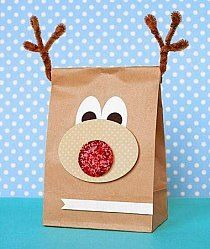 Rudolph the red nose reindeer is bringing your gift