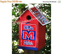 20% OFF TODAY Ole Miss Birdhouse,Ole Miss Decor,Ole Miss Yard Decor,Ole Miss Products,Ole Miss Merchandise