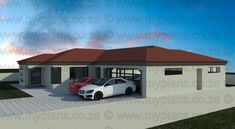 3 Bedroom House Plans - My Building Plans South Africa 4 Bedroom House Plans, Family House Plans, My Building, Building Plans, Single Storey House Plans, House Roof Design, House Plans South Africa, Modern House Floor Plans, Free House Plans