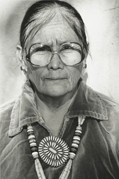 Navajo woman with beautiful jewelry.  Born in 1933, Tuba City, Navajo Nation, AZ.