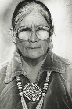 Navajo woman with beautiful jewelry.  Born in 1933, Tuba City, Navajo Nation, AZ.