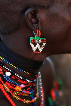 Africa | Jewellery details from the Hamer tribe, Omo Valley, Ethiopia | ©Claude Gourlay