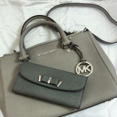 #michael #kors #outlet My bag!!!discount Michael Kors Gathered Logo Medium Black Totes for cheap, latest handbags are all show here!!!
