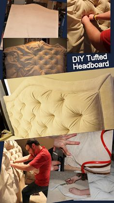 How to make a gathered tufted headboard!