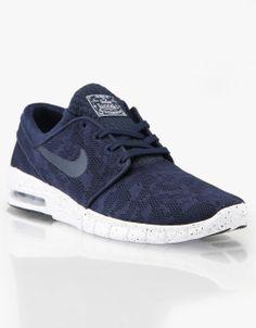 premium selection 412a3 85144 Nike SB Stefan Janoski Max Skate Shoes - Midnight Navy Mid Navy-White
