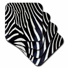 Janna Salak Designs Black and White Zebra Animal Print Coaster Soft Set of 4 -- Continue to the product at the image link. (This is an affiliate link) Bar Coasters, Monogram Coasters, Agate Coasters, Marble Coasters, Ceramic Coasters, Wooden Coasters, Stone Coasters, White Zebra, Animal Print Rug