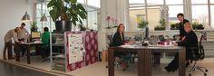 Kom eens langs om ons aan het werk te zien in ons kantoor in het creatieve bedrijvencentrum in De Gruyterfabriek!